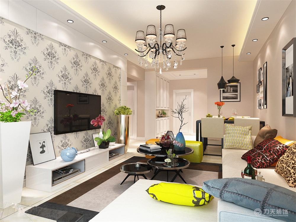 客厅图片来自阳光力天装饰梦想家更爱家在现代简约 南仓新苑  90㎡的分享