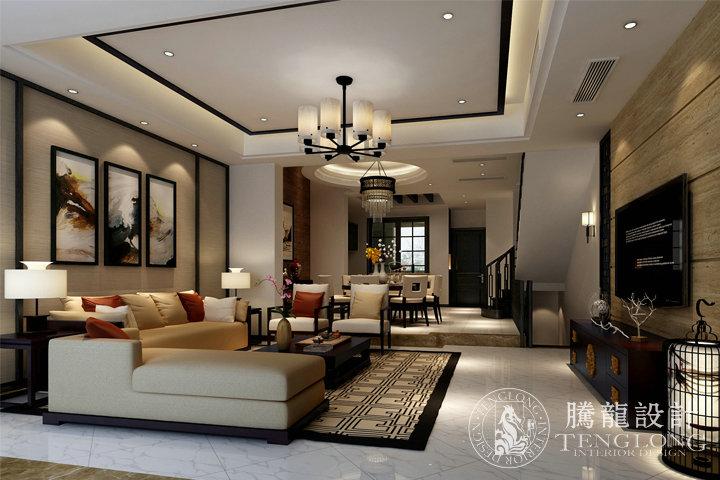 绿地曼哈顿 装修设计 腾龙设计师 林财表作品 客厅图片来自林财表在绿地曼哈顿现代简约风格设计的分享
