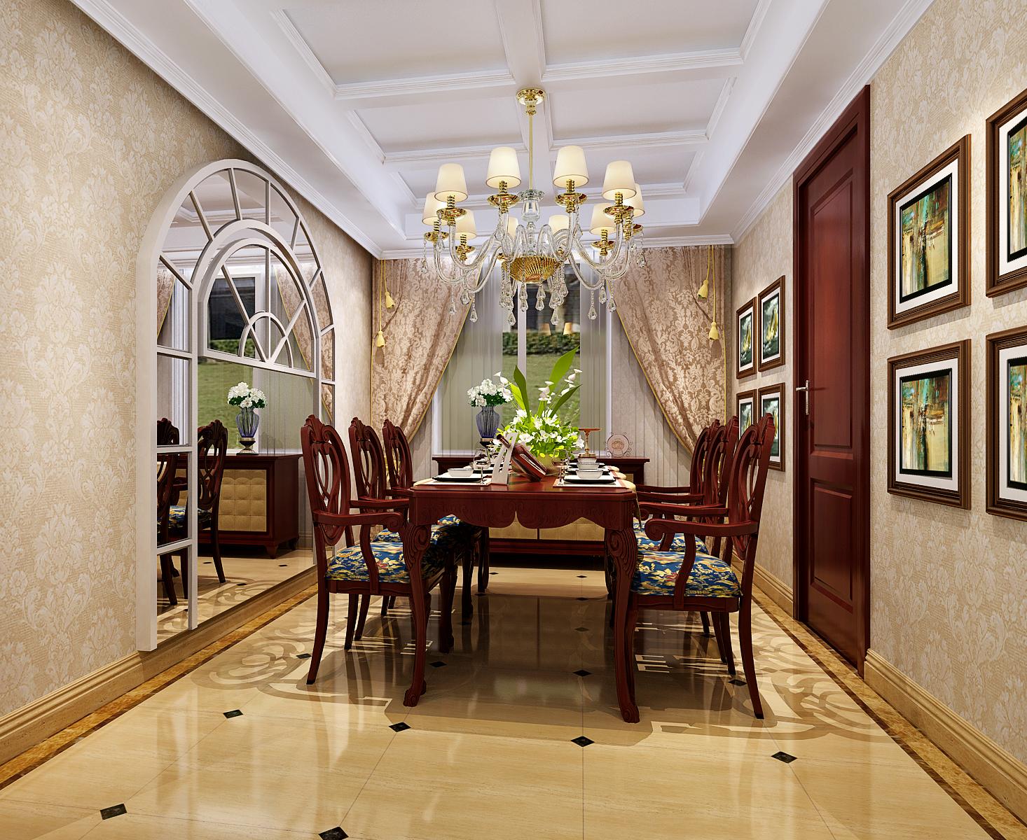 餐厅图片来自今朝装饰小徐在香雪兰溪 130平新古典风格的分享