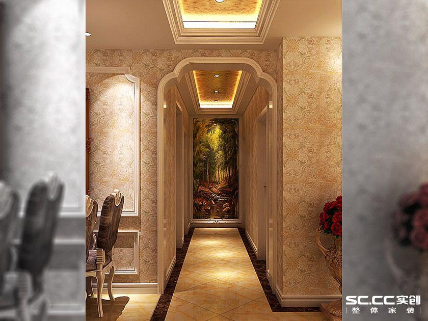 中原名邸 三居室装修 奢华欧式 玄关图片来自郑州实创装饰-杨淑平在中原名邸130平三居奢华欧式的分享