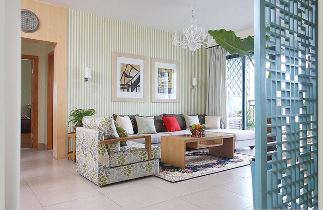 客厅图片来自四川岚庭装饰工程有限公司在清新的现代质感中式风的分享