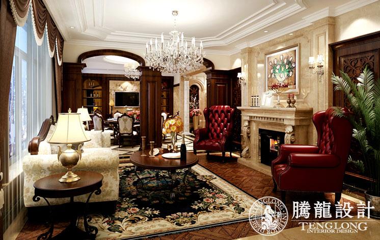 乔爱庄园 别墅装修 别墅设计 欧式古典 腾龙设计 林财表作品 客厅图片来自林财表在乔爱别墅装修欧式新古典风格的分享