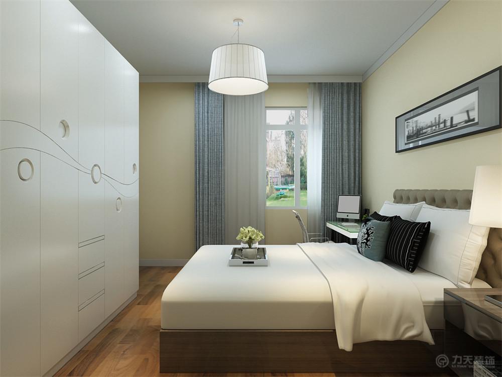 二居 80后 小资 简约 卧室图片来自阳光放扉er在力天装饰-雅仕兰庭-89㎡的分享