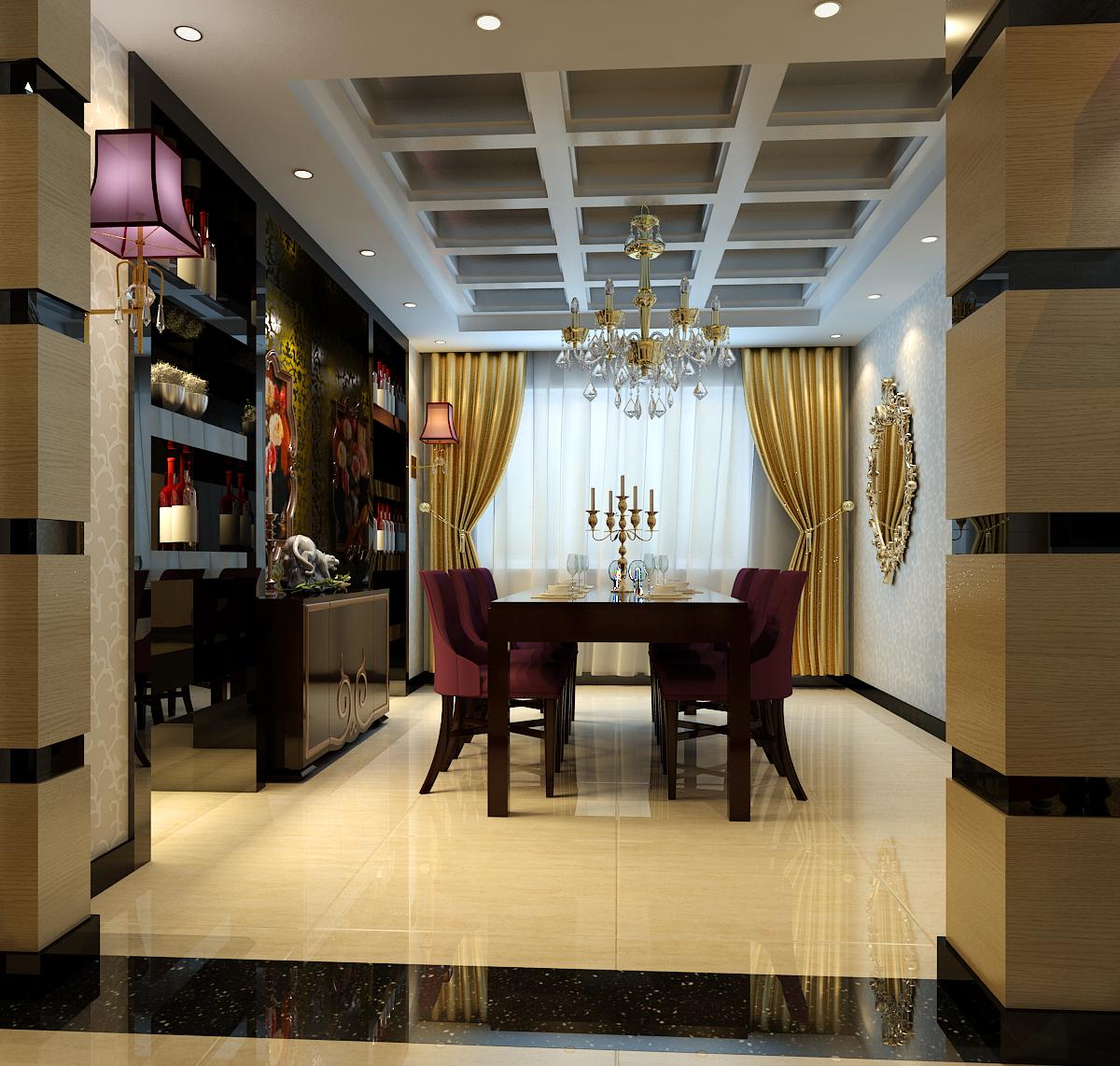 餐厅图片来自今朝装饰小徐在望海名居 125平后现在奢华风格的分享
