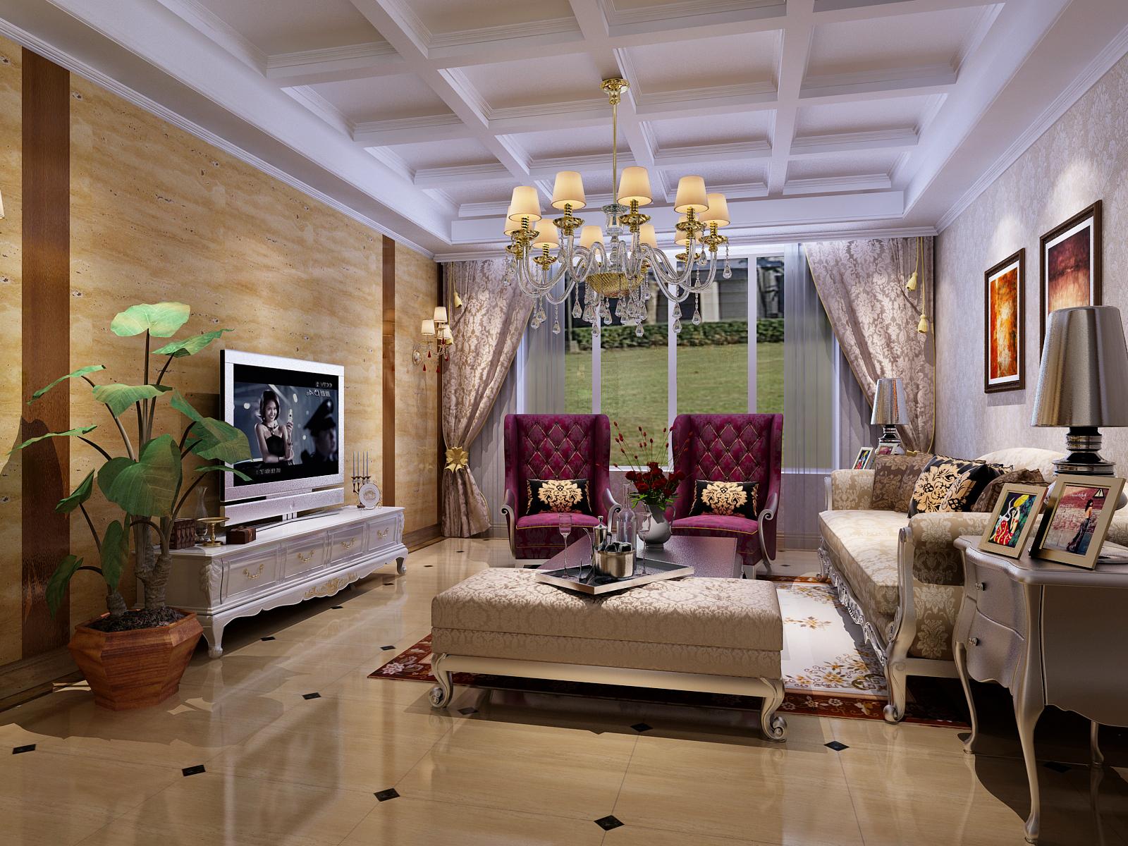 客厅图片来自今朝装饰小徐在香雪兰溪 130平新古典风格的分享