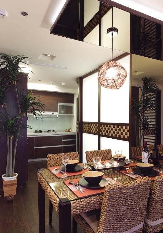 餐厅图片来自四川岚庭装饰工程有限公司在67平米异国风情两室两厅的分享