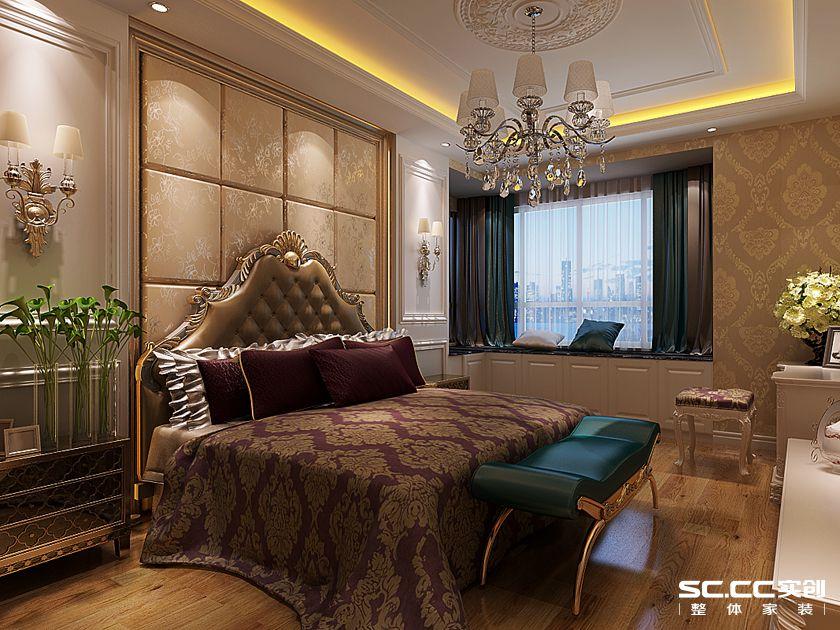 中原名邸 三居室装修 奢华欧式 卧室图片来自郑州实创装饰-杨淑平在中原名邸130平三居奢华欧式的分享