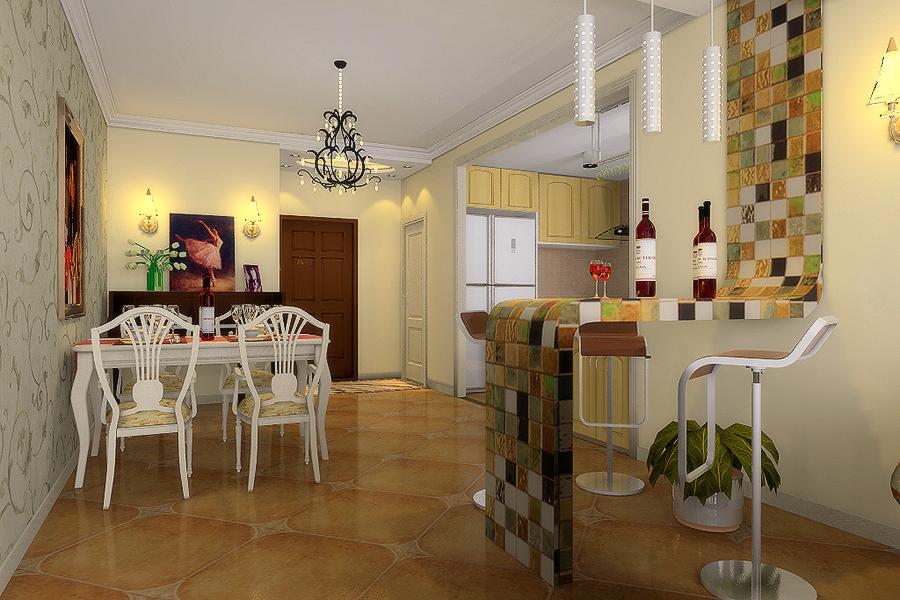 餐厅图片来自今朝装饰小徐在天通苑 120平田园风格的分享