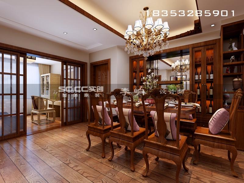 和悦蓝庭 165平装修 青岛实创 实创装饰 中式风格 餐厅图片来自实创装饰集团青岛公司在和悦蓝庭165平中式的分享