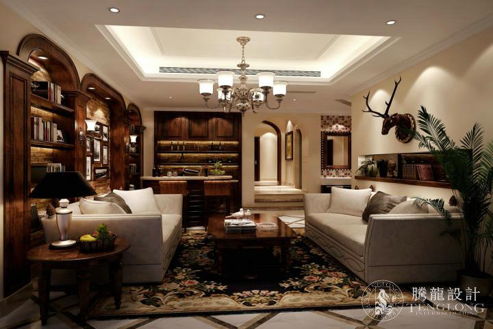 绿洲香格丽 别墅装修 别墅设计 欧式风格 腾龙设计 林财表作品 客厅图片来自林财表在绿洲香格丽300平别墅设计的分享