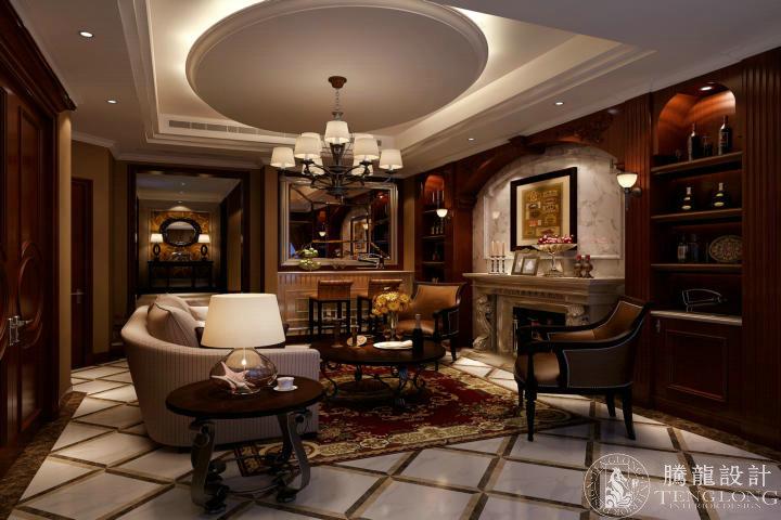 绿洲香格丽 别墅装修 别墅设计 欧式风格 腾龙设计 林财表作品 餐厅图片来自林财表在绿洲香格丽300平别墅装修设计的分享