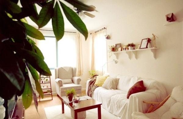 客厅图片来自四川岚庭装饰工程有限公司在74平清爽日式田园风格装修的分享