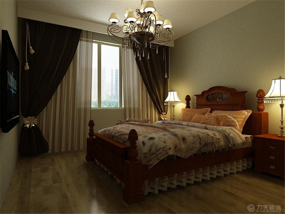 二居 美式 80后 小资 卧室图片来自阳光放扉er在力天装饰-雲锦世家90㎡的分享
