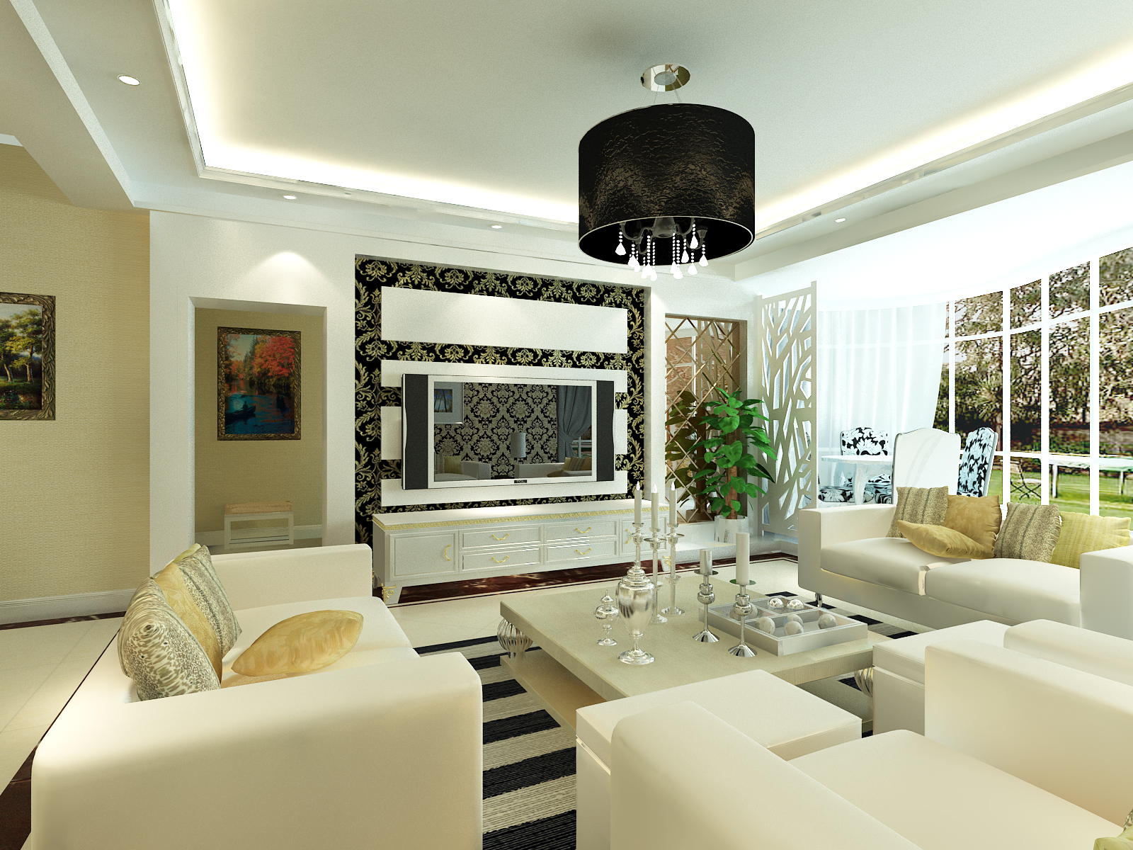 简约 客厅图片来自室内设计师--杨刚在千禧学府苑的分享