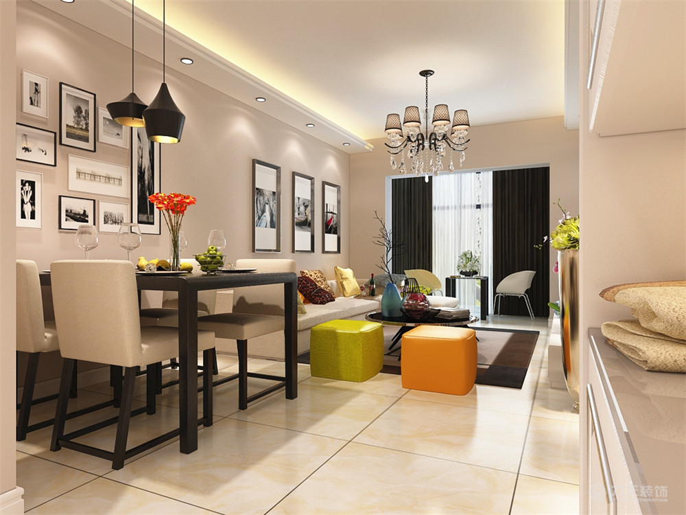 餐厅图片来自阳光力天装饰梦想家更爱家在现代简约 南仓新苑  90㎡的分享