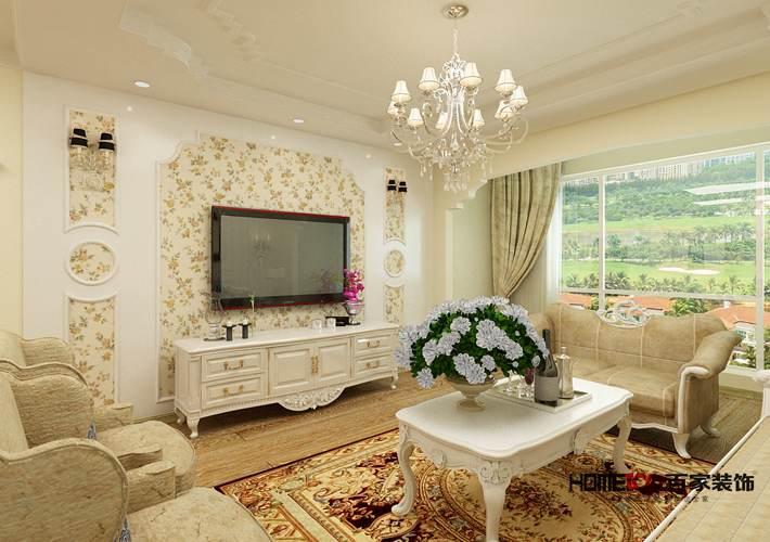 美式 中海寰宇 三居 客厅图片来自百家设计小刘在中海寰宇天下120平美式风格的分享