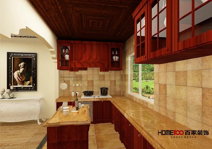 美式 中海寰宇 三居 厨房图片来自百家设计小刘在中海寰宇天下120平美式风格的分享