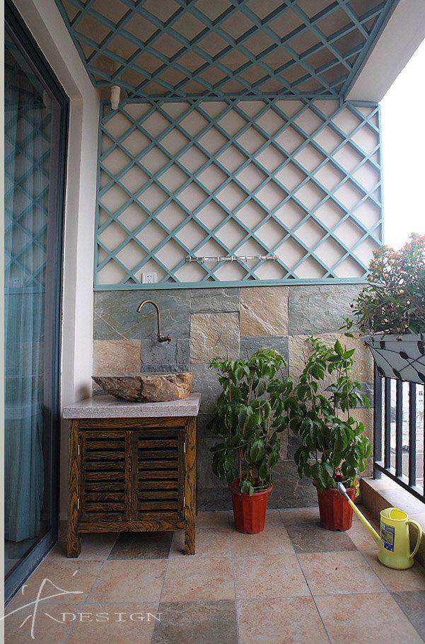 阳台图片来自四川岚庭装饰工程有限公司在清新的现代质感中式风的分享