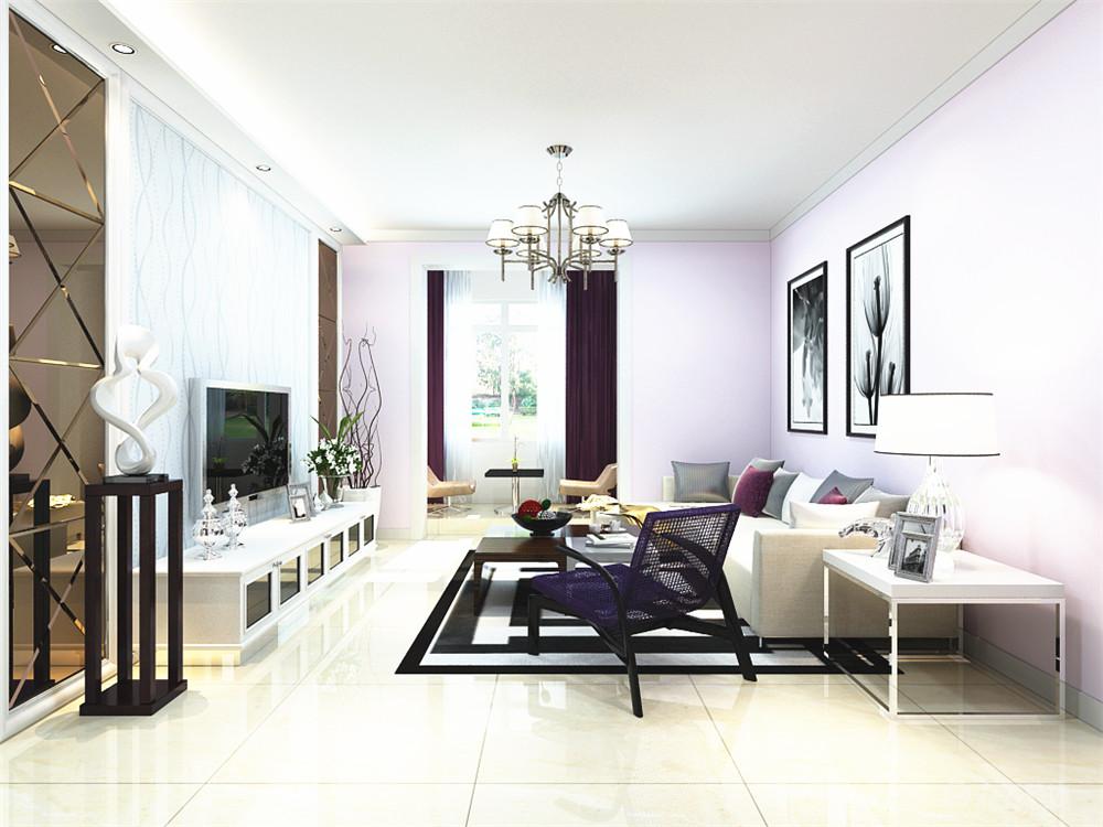 简约 二居 客厅图片来自阳光力天装饰梦想家更爱家在现代简约  先锋道    86㎡的分享