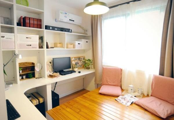 书房图片来自四川岚庭装饰工程有限公司在74平清爽日式田园风格装修的分享