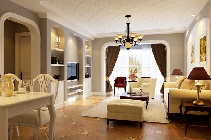 客厅图片来自今朝装饰小徐在方丹苑 120平美式风格的分享