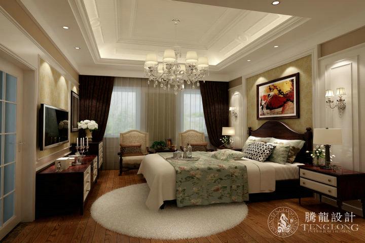 绿洲香格丽 别墅装修 别墅设计 欧式风格 腾龙设计 林财表作品 卧室图片来自林财表在绿洲香格丽300平别墅设计的分享