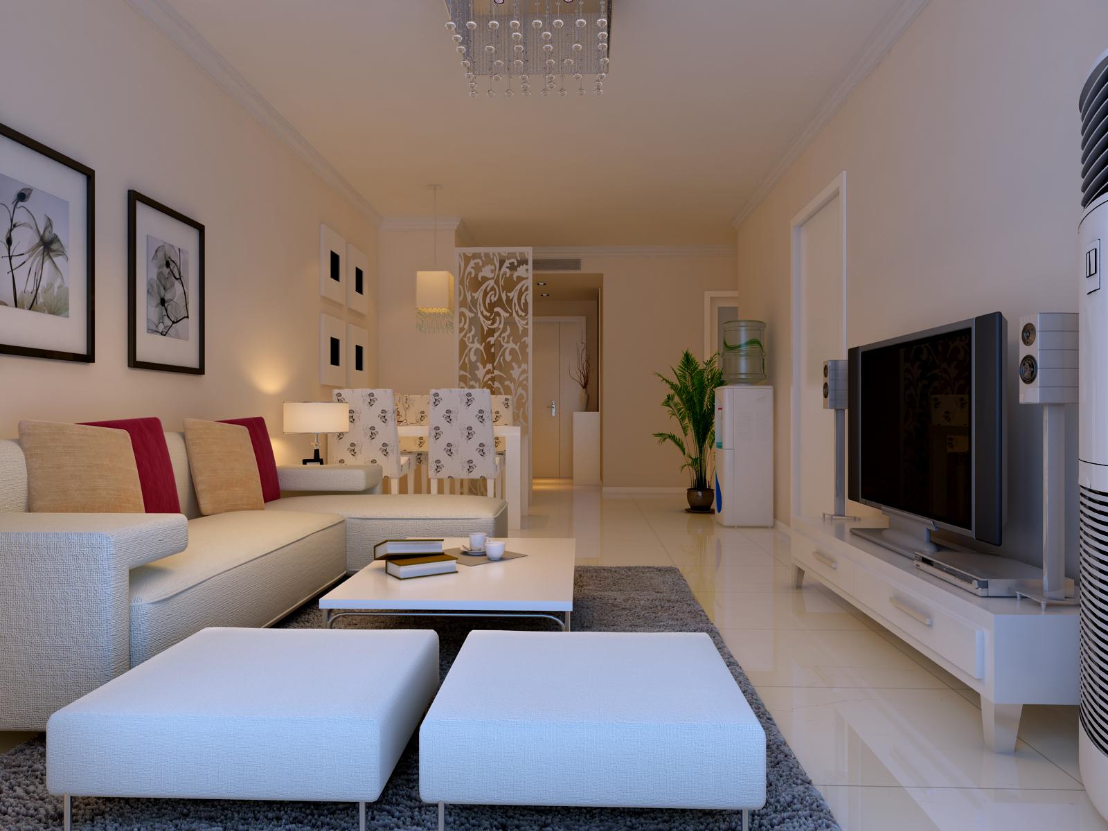 客厅图片来自今朝装饰小徐在中信城 70平现代简约风格的分享