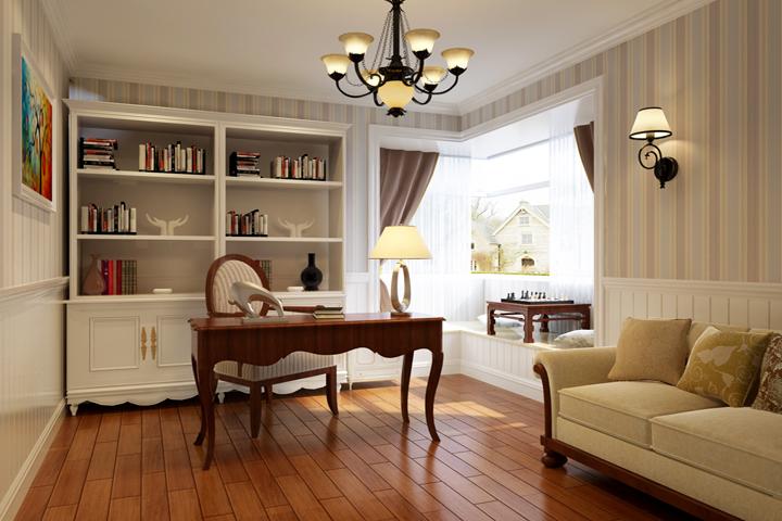 书房图片来自今朝装饰小徐在方丹苑 120平美式风格的分享