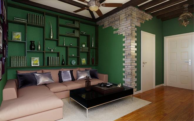 客厅图片来自四川岚庭装饰工程有限公司在阳光梦想城小户型绿色清新东南亚的分享