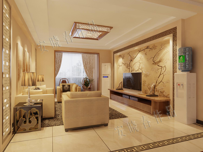 客厅图片来自今朝装饰小徐在四惠东 158平新中式风格的分享