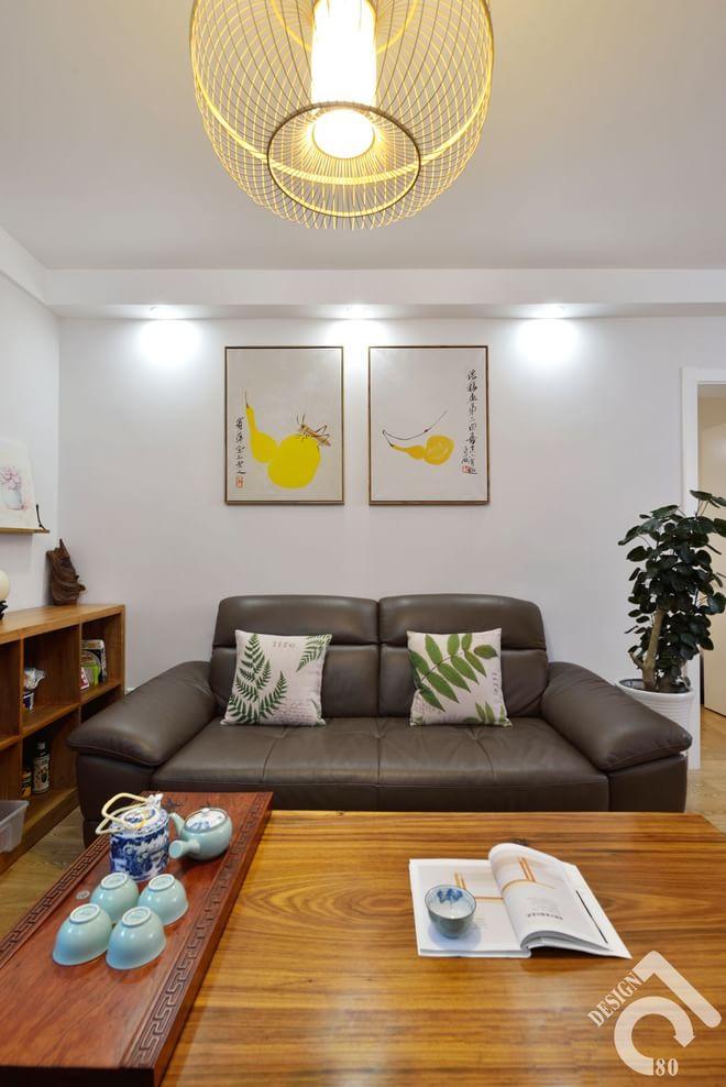 客厅图片来自四川岚庭装饰工程有限公司在80平质朴静室的分享