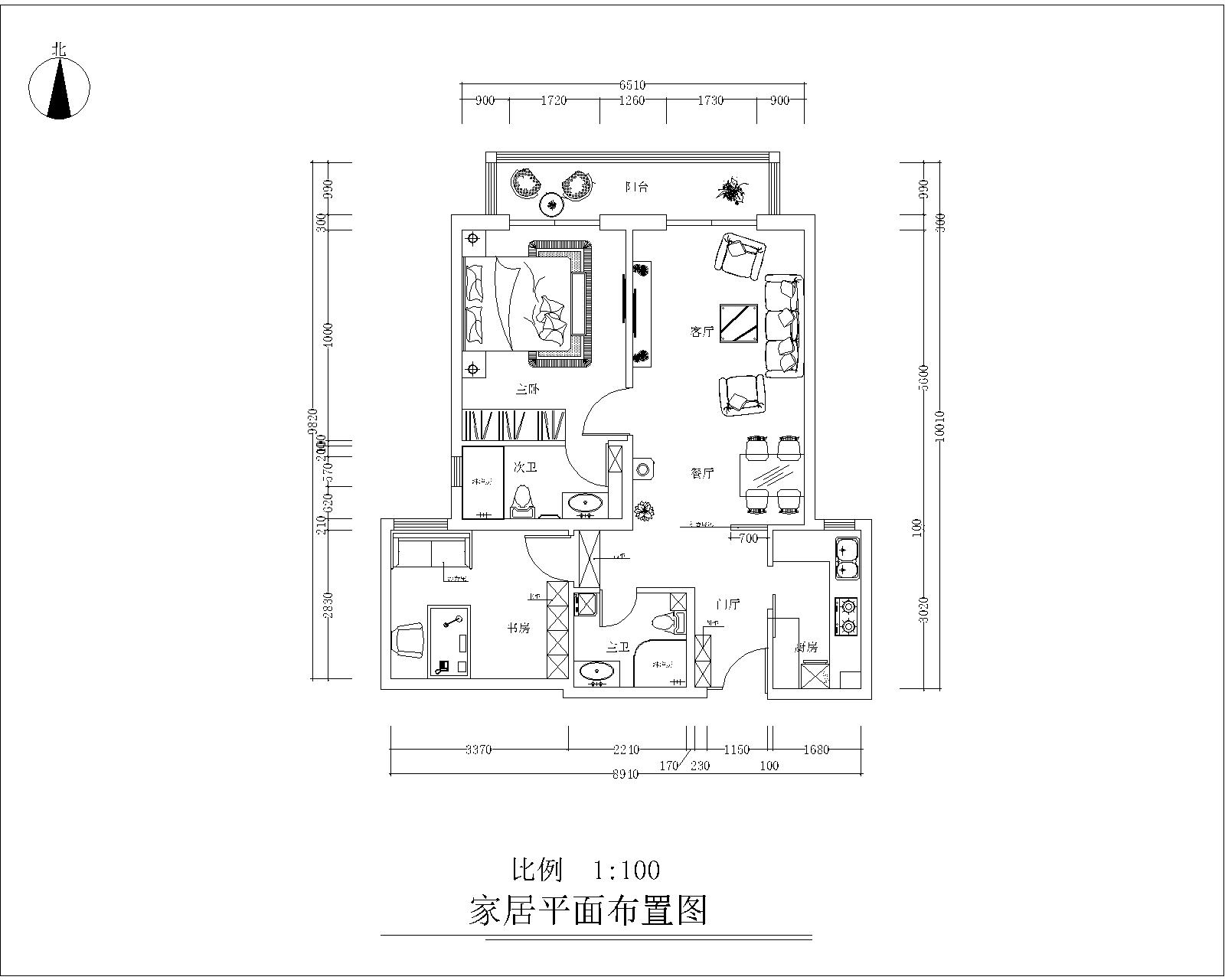 户型图图片来自今朝装饰小徐在中信城 70平现代简约风格的分享