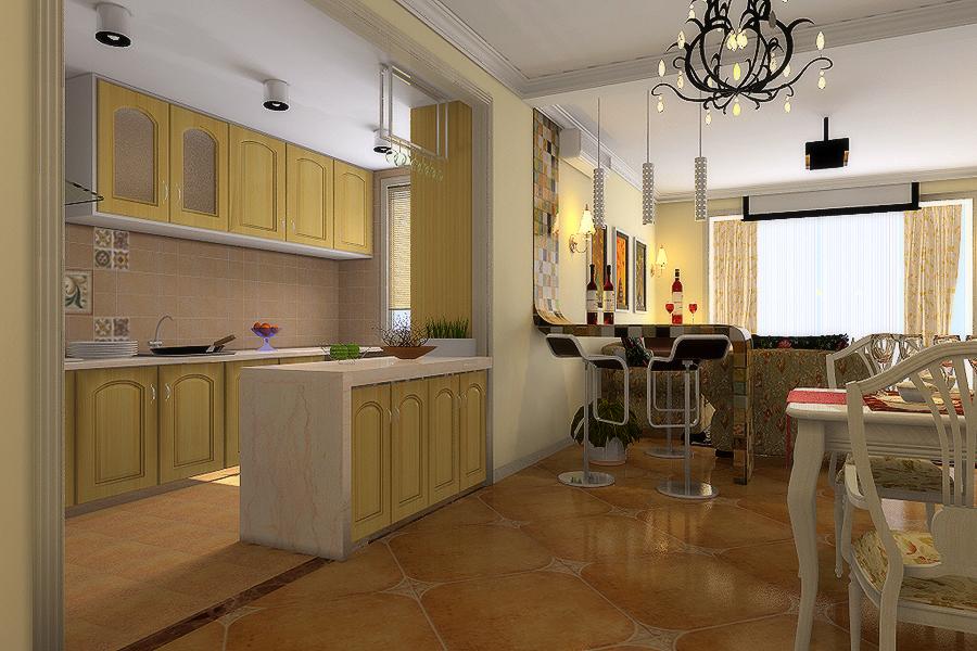 厨房图片来自今朝装饰小徐在天通苑 120平田园风格的分享