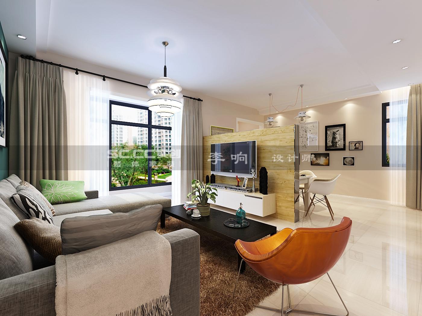鼎世华府 130平房子 青岛实创 简欧设计 客厅图片来自实创装饰集团青岛公司在鼎世华府130平装修的分享