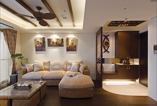 客厅图片来自四川岚庭装饰工程有限公司在67平米异国风情两室两厅的分享