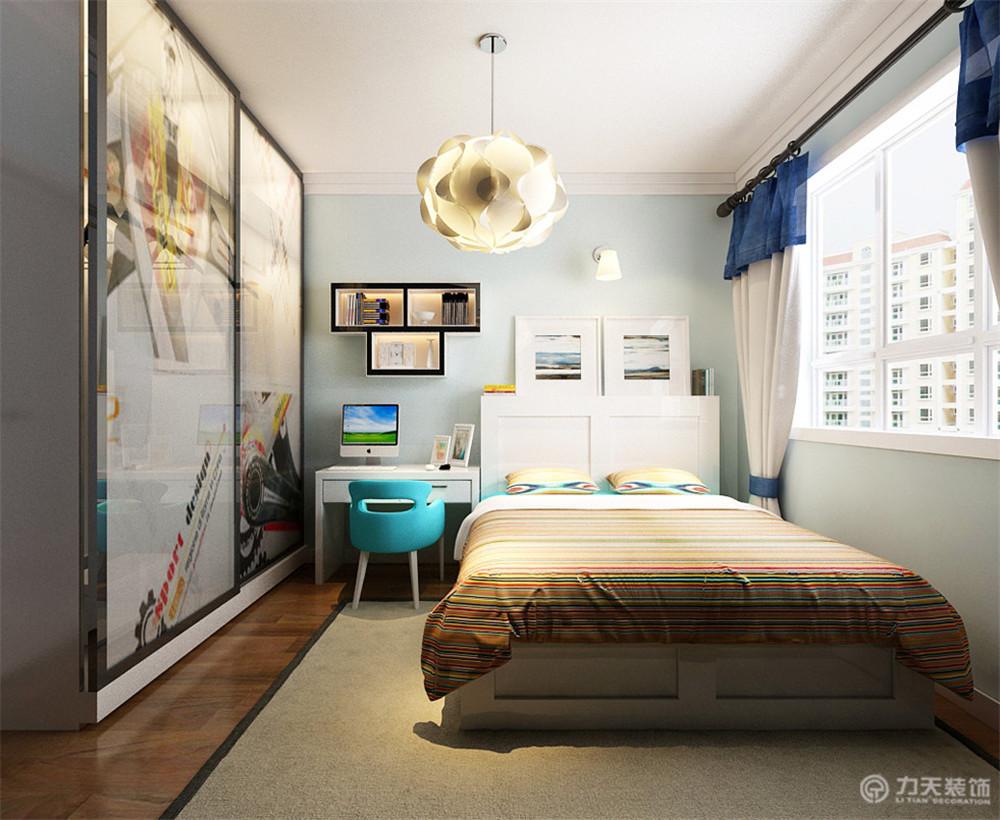二居 80后 小资 简约 卧室图片来自阳光放扉er在力天装饰-玺岳104㎡的分享