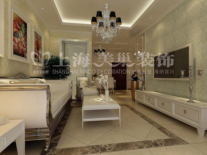 装饰装修 简欧风格 家居效果图 小资图片来自meichao19在润城简欧装修87平两室两厅效果图的分享