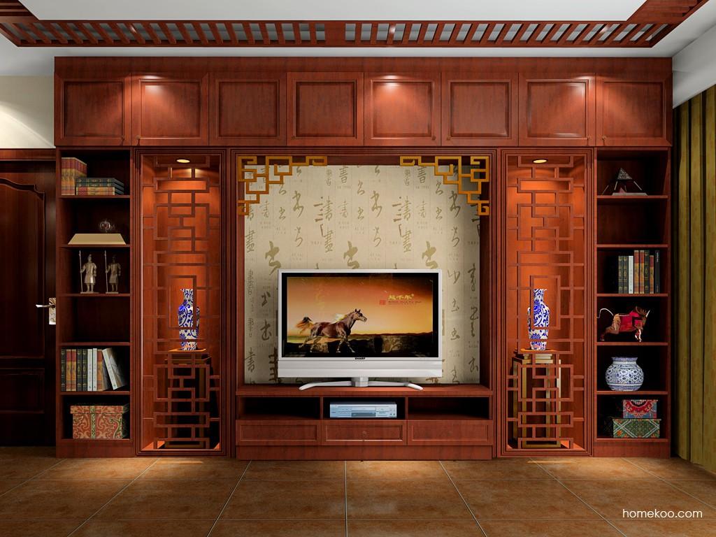 客厅图片来自今朝装饰小徐在林肯公园 100平中式风格的分享