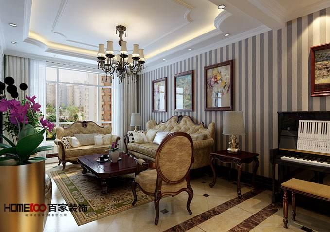 欧式 三居 中海寰宇 客厅图片来自百家设计小刘在中海寰宇天颂130平欧式风格的分享