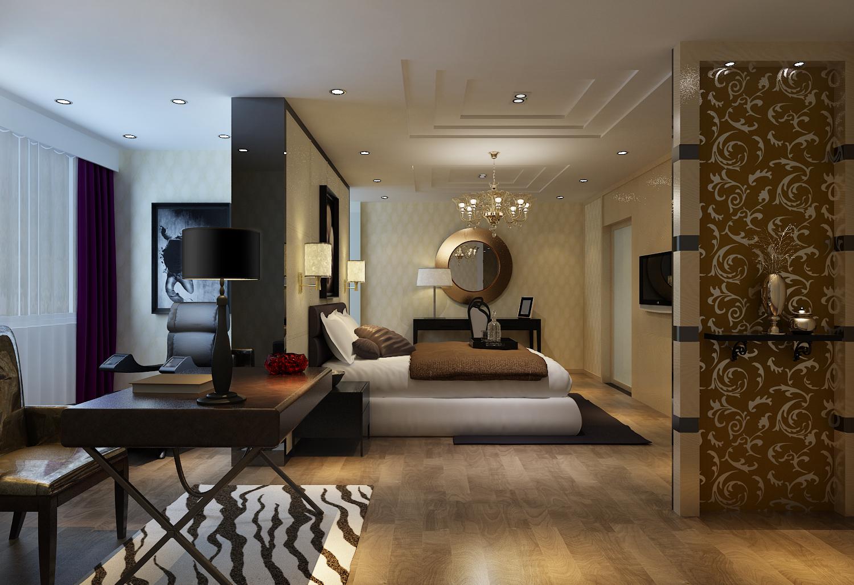 卧室图片来自今朝装饰小徐在望海名居 125平后现在奢华风格的分享