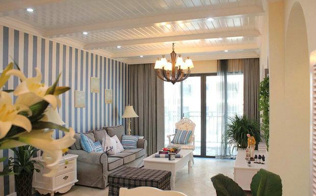 简约 欧式 田园 三居 旧房改造 客厅图片来自今朝装饰小张在128平 地中海风格的分享