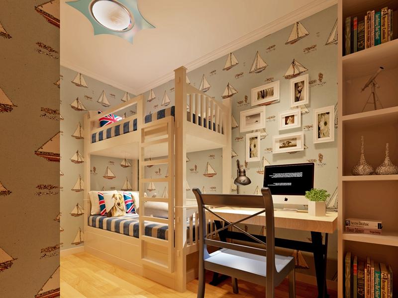 别墅 简约 80后 儿童房图片来自快乐彩在喜山150平现代简约装修设计的分享