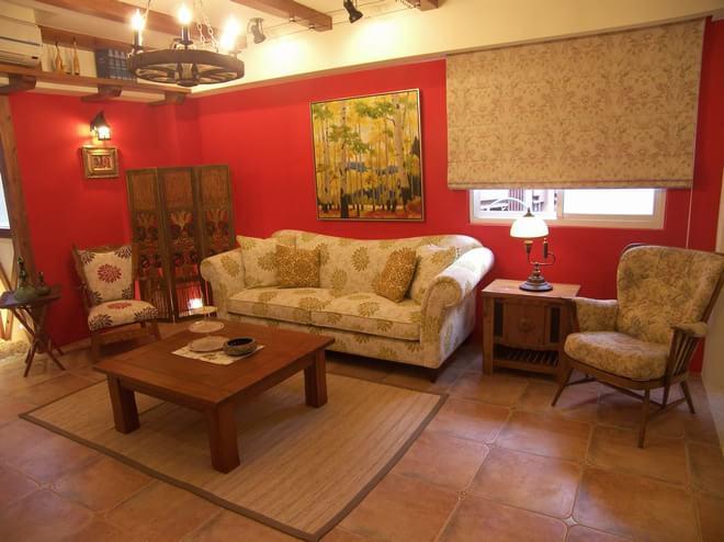 混搭 客厅图片来自四川岚庭装饰工程有限公司在西班牙乡村的豔红小窝的分享