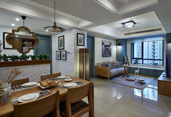 混搭 三居 舒适 实木 客厅图片来自佰辰生活装饰在将混搭进行到底 100平超美空间的分享