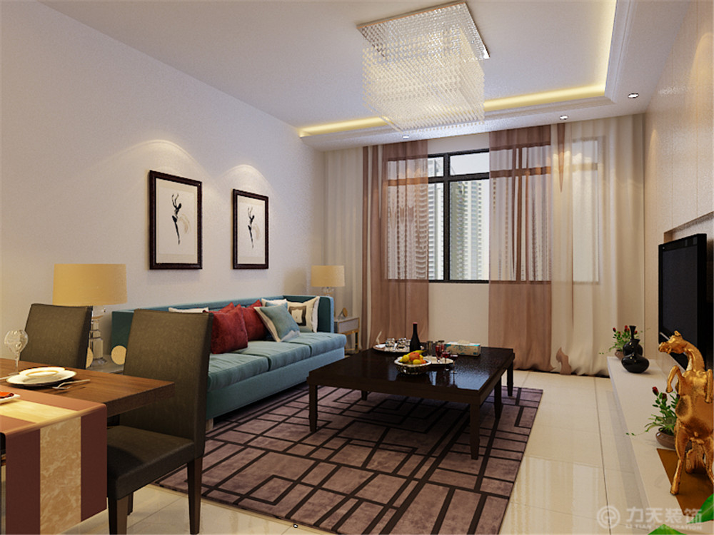 二居 80后 小资 白领 客厅图片来自阳光放扉er在力天装饰-华城领秀93㎡的分享