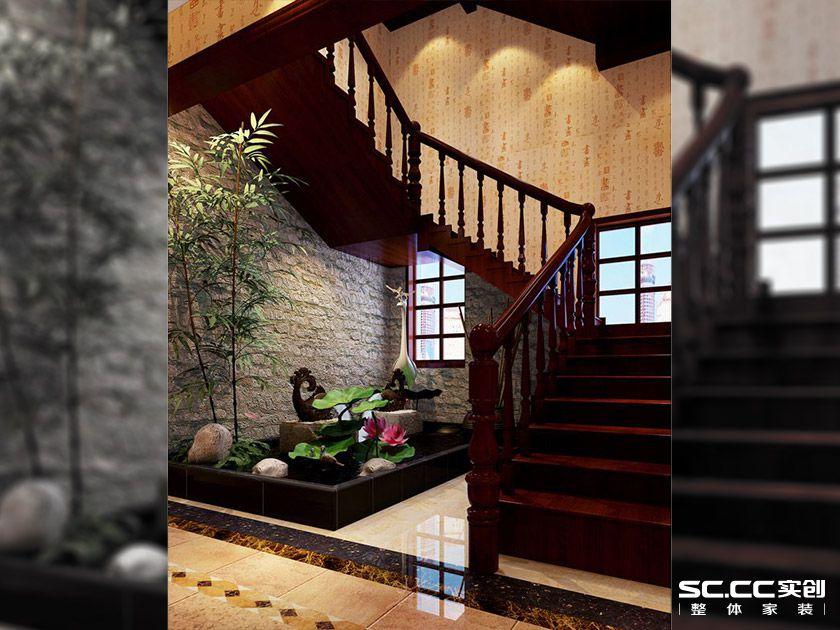 别墅设计 中式风情 大户型装修 客厅图片来自郑州实创装饰-杨淑平在商丘虞城别墅840平中式设计的分享
