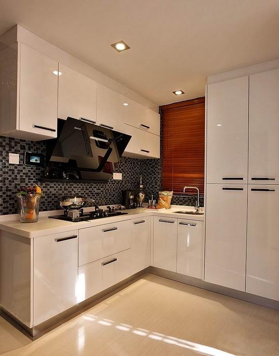 厨房图片来自四川岚庭装饰工程有限公司在现代风格三居室装修效果图的分享