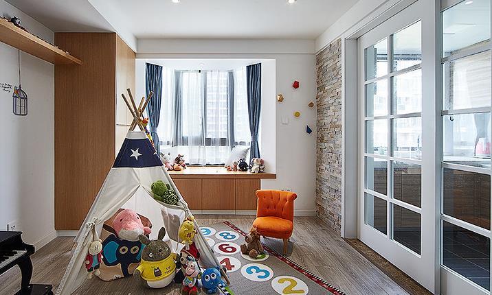 简约 欧式 三居 阳光房 卧室图片来自佰辰生活装饰在舒适阳光房 140平北欧简约风的分享