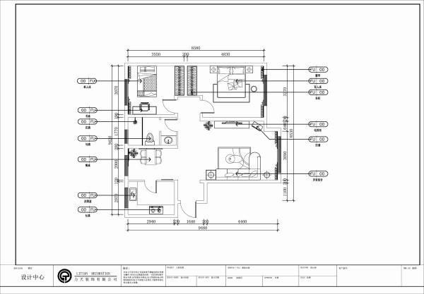 本案为华城浩苑两室两厅一厨一卫95㎡户型。。整体户型空间算是比较大的,空间宽敞,布局规整,采光方面比较不错,属于南北通透型,通风采光都很好,动线清晰。