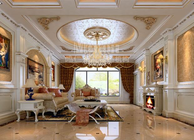 客厅图片来自鸣仁装饰在350平山东望海花园简欧风格的分享